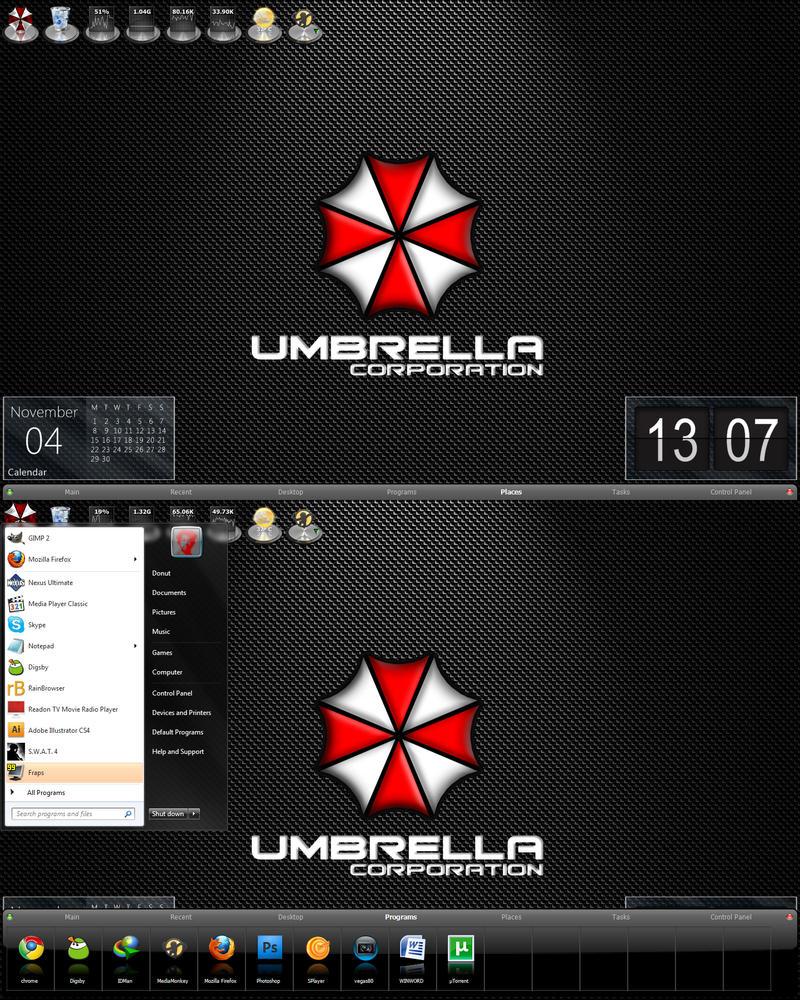 Umbrella Desktop Test by bishou-no-soujiro