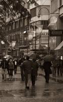 Stroll In The Rain by erene
