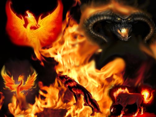 Fantasy Fire Creatures Fire Creatures by