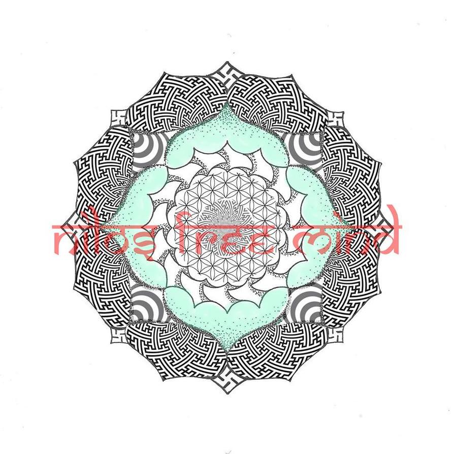 Sayagata Lotus Dotwork Flower Of Life By Nilosfreemind On Deviantart