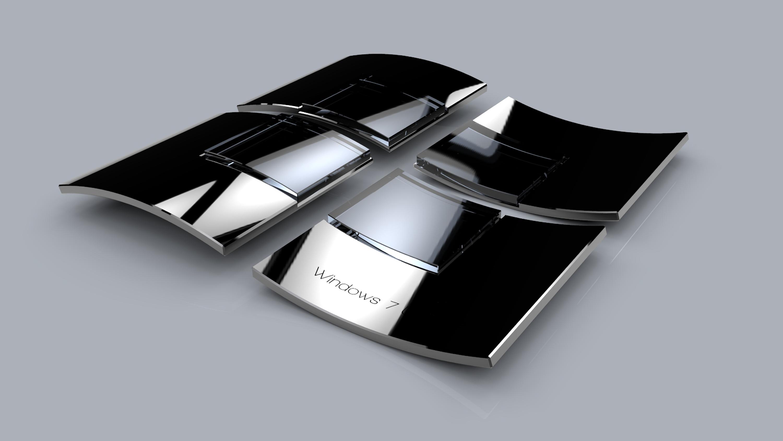 3d windows logo metallic by llexandro on deviantart for Fenetre 3d windows 7