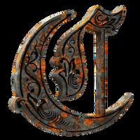3D Royale Initials C