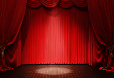 Red Curtain Background Texture 03