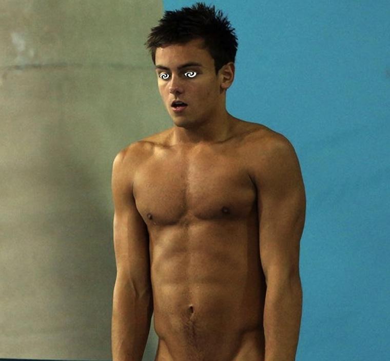 Hypnotized naked man #2