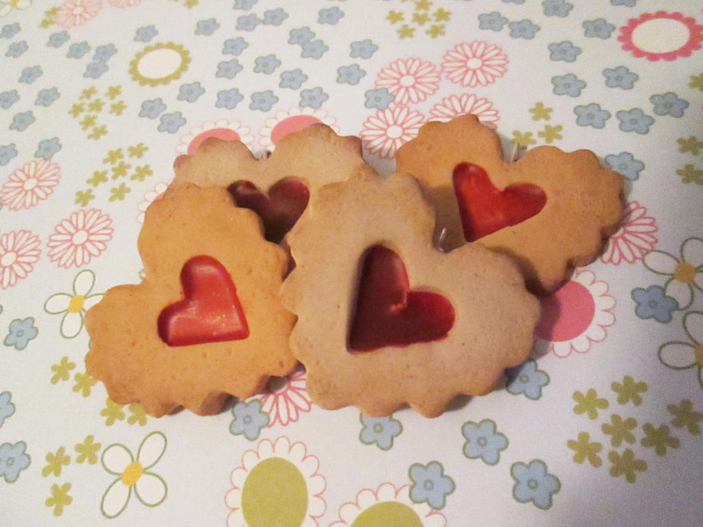 Cherry Tart Hearts Charm by EkaUzumaki