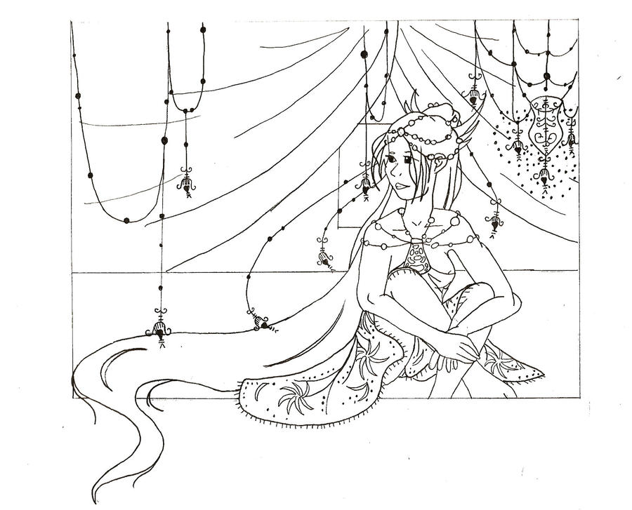 Rapunzel Lineart : Rapunzel lineart by megadee on deviantart