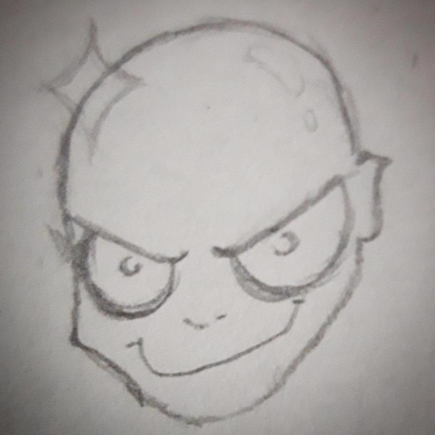 Evil face by ClobyDraws