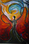 Painting Title: MYSTICAL TREE LADY by lifegotcreative