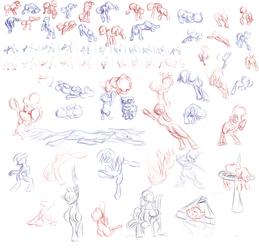 Back to Basics: anatomy, poses by RandomDash