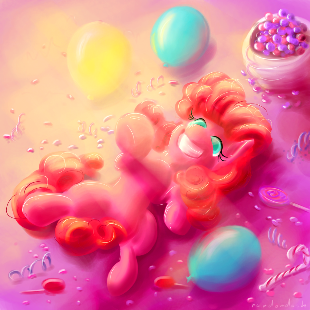 Pinkie Sun by RandomDash