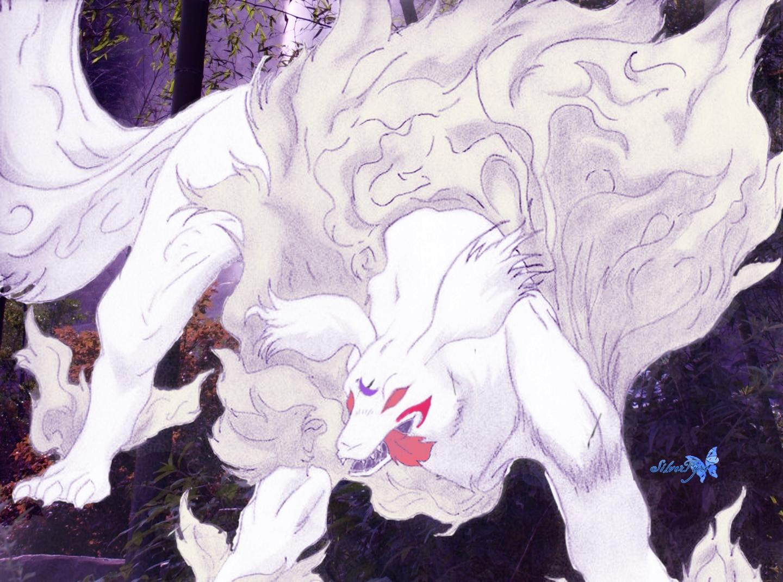 Sesshoumaru Youkai with bg by bloodyblue