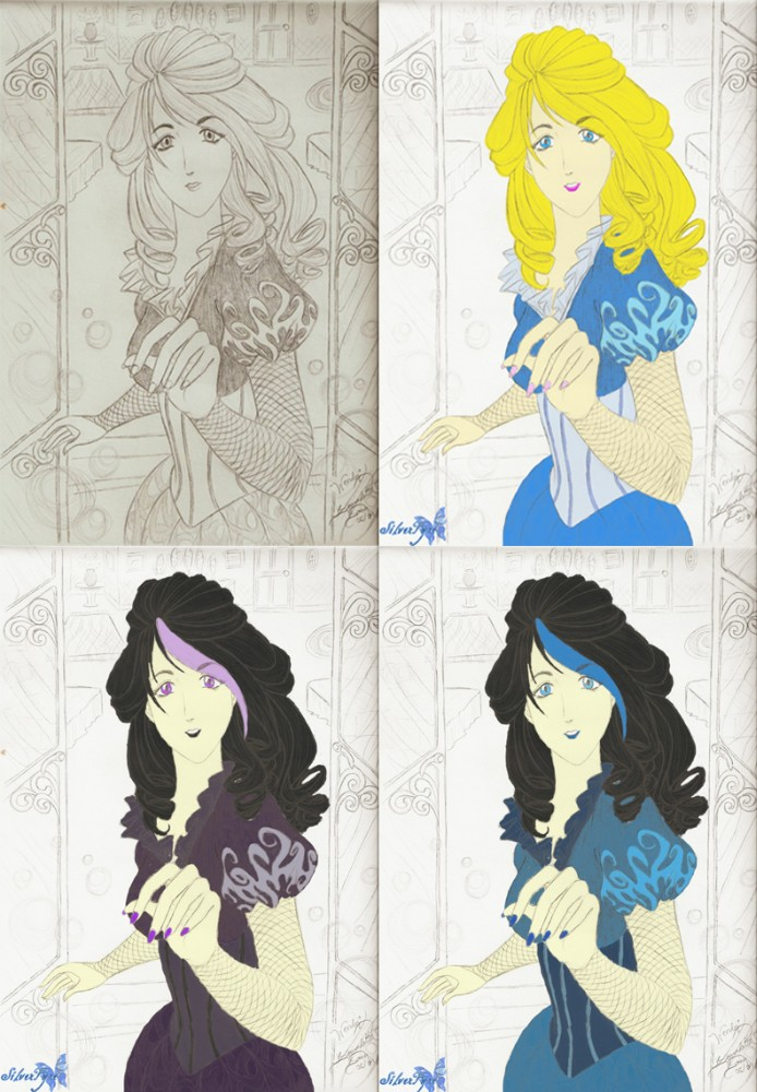 Wendy Darling variations by bloodyblue