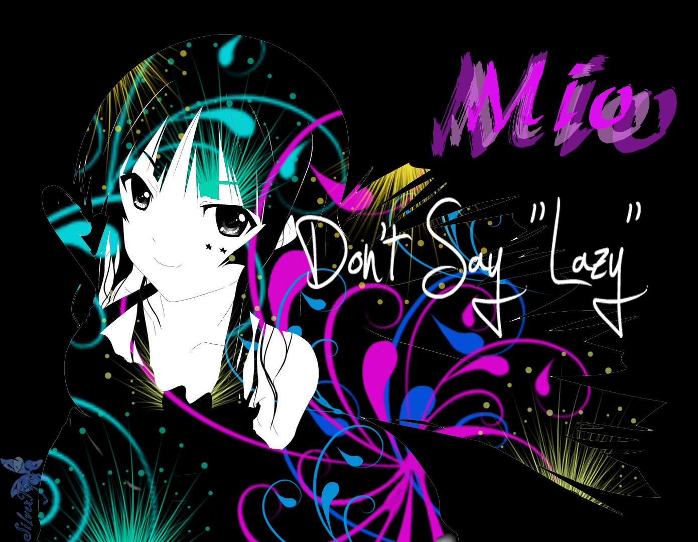 Anime: Mio of K-on by bloodyblue