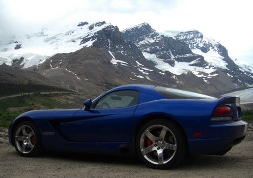 Dodge Viper and Athabasca Glacier