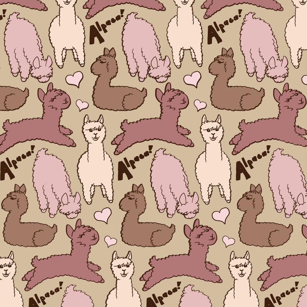 Alpaca Repeating Pattern by Tevokkia