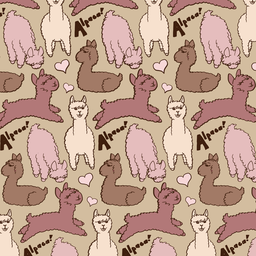 Alpaca Repeating Pattern by Tevokkia