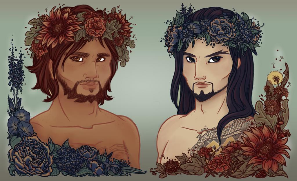 Sunflowers to Peonies by Tevokkia