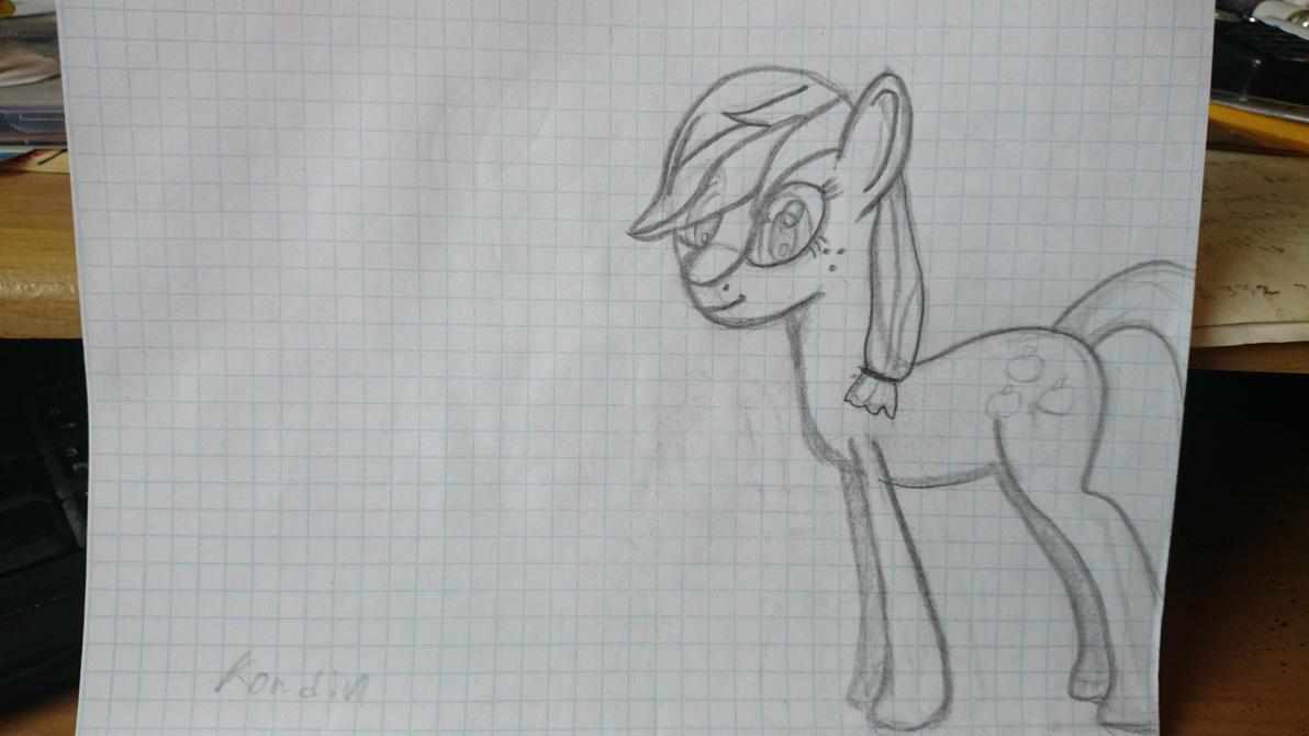 Applejack sketch by kondin