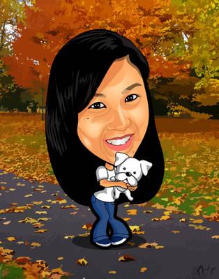 Ai Ai Caricature by sunnysighup