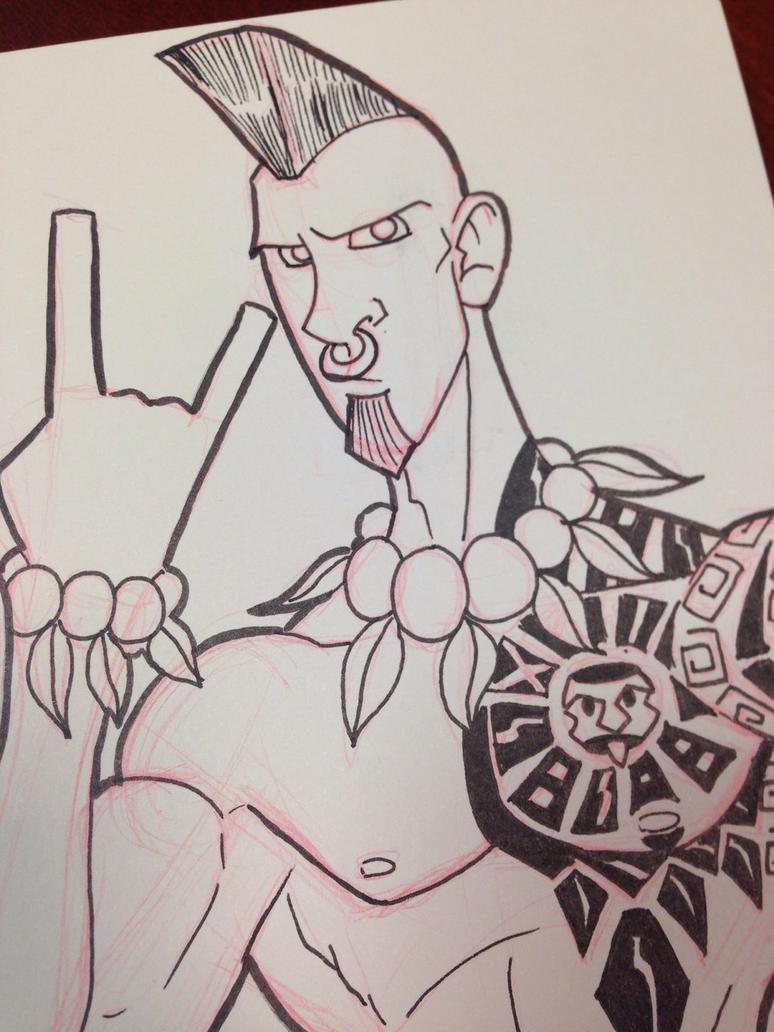 Tiki Pete Sketch by MustacheMayhem
