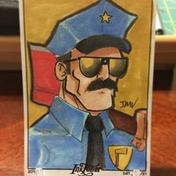Inktober Day 19 - Axe Cop by MustacheMayhem