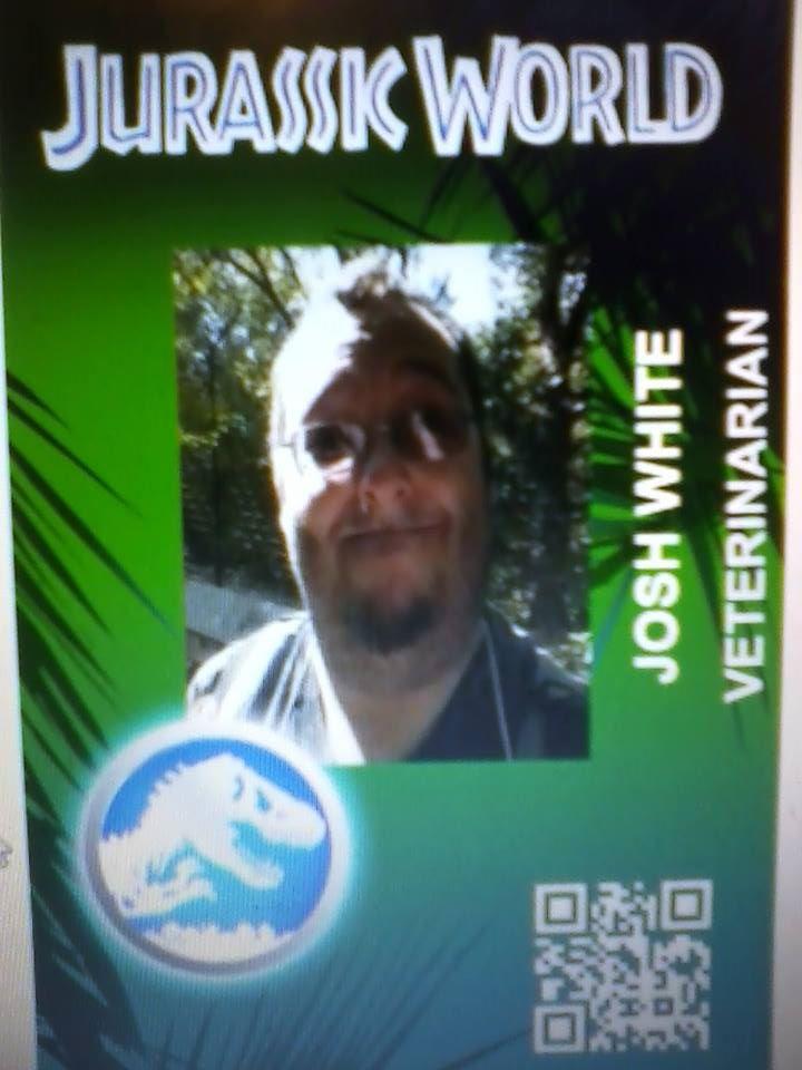 my Jurassic world id card by irishwolf8504