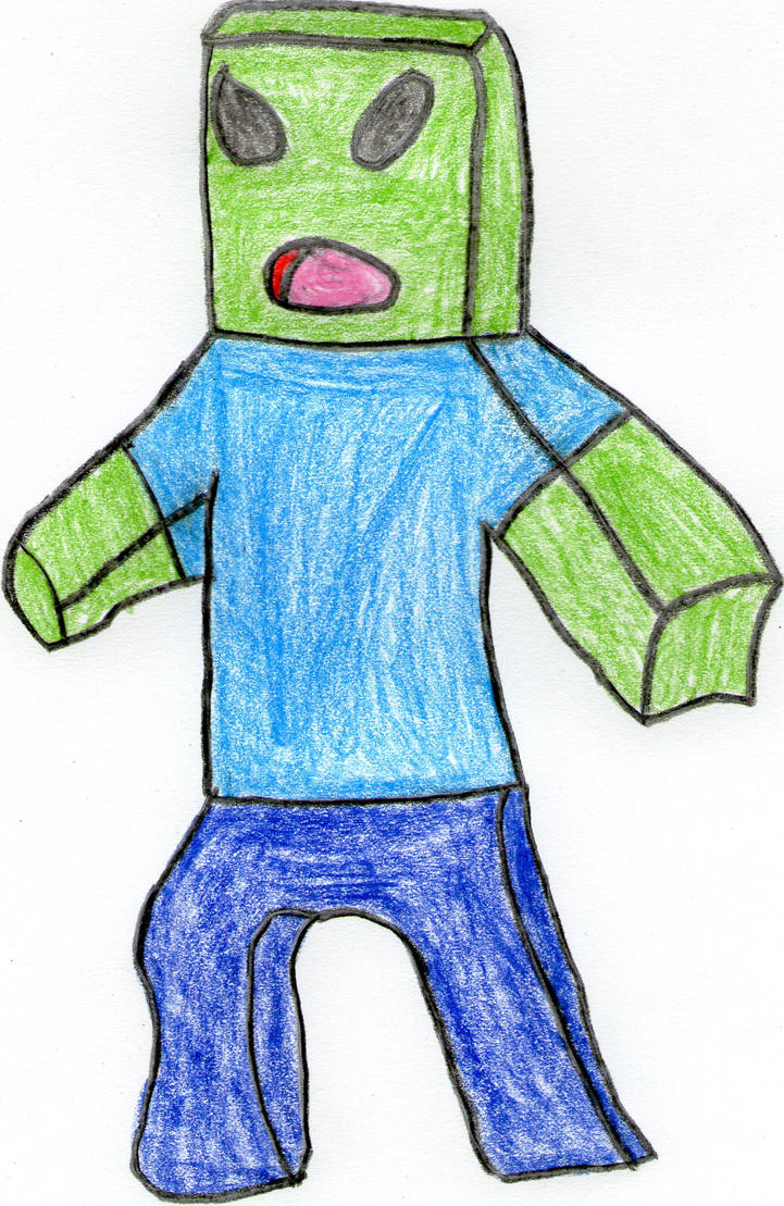 Your very own art - Page 17 Minecraft_zombie_by_shardrockslikeabawss-d54na1a