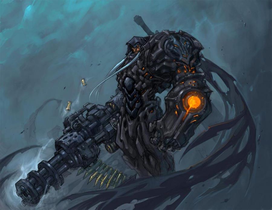 Futuristic Warrior by Noblewolf117Anime Futuristic Warrior