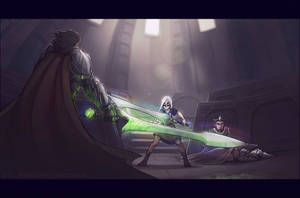 Vs the Knights of Crystallia by Art-Zealot
