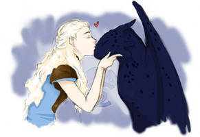 Dany and Toothless by Camacaileon