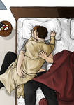 Dean Winchester and Castiel by Camacaileon