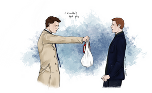 Cas went shopping by Camacaileon