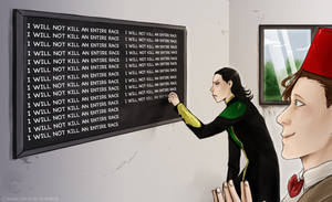 Doctor teaches Loki by Camacaileon