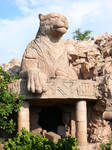 Leopard Statue Guarding Cave