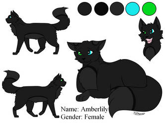 Amberlily from RiverClan (Made by Forteycat!) by Lizthewolflover