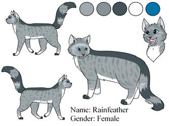 Rainfeather the Medicine Cat (By Forteycat) by Lizthewolflover