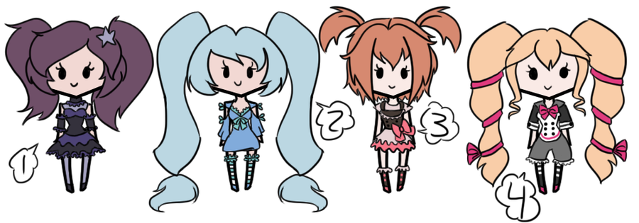 Pigtail Girl Adopts 2 by AAA-Adopts