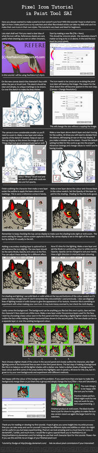 Pixel Icon Tutorial in Paint Tool SAI