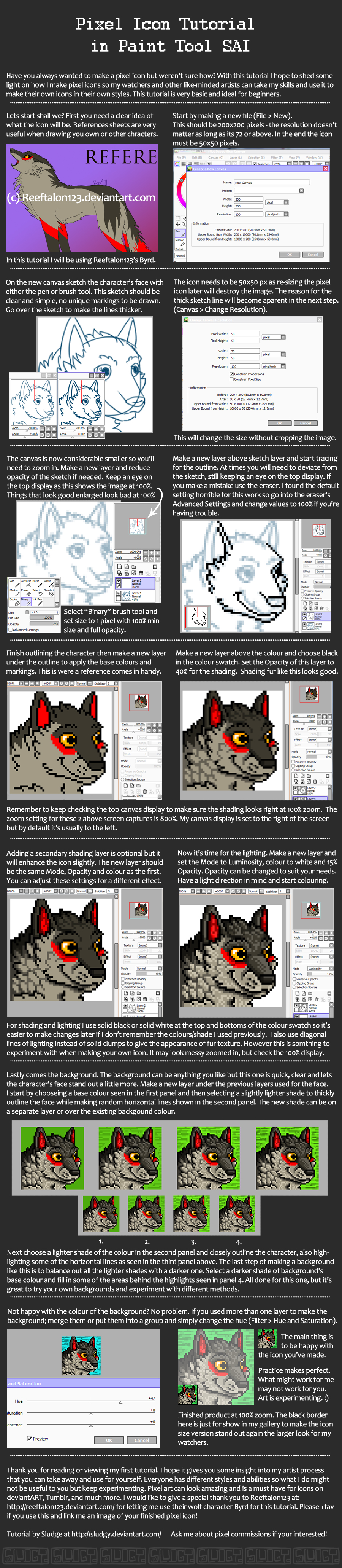 Pixel Icon Tutorial In Paint Tool Sai By Sludgy
