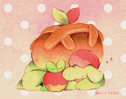 Appletun and Applin by Mii320