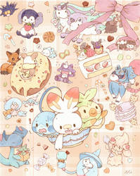 My favourote galar pokemon and sweets :)