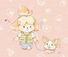 Isabelle and Yamper by Mii320
