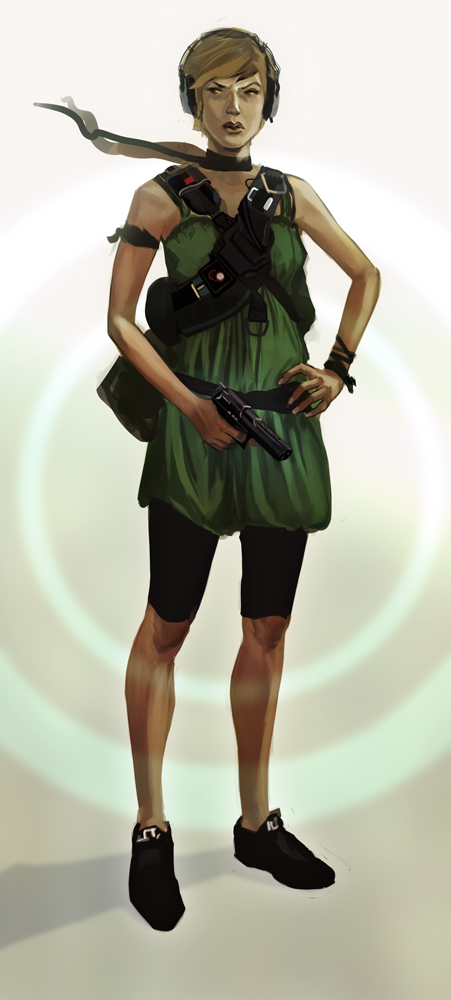 assassin gal by JohnPowell