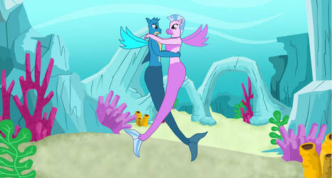Gallus and Silverstream under the sea