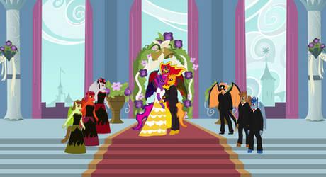 Demon Twilight Sparkle and Flash Sentry's Wedding