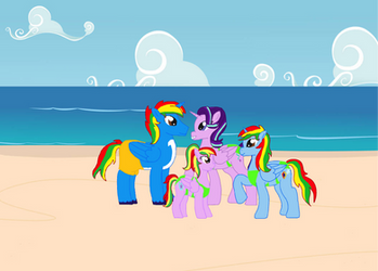 Shield Wing's Family at the Beach