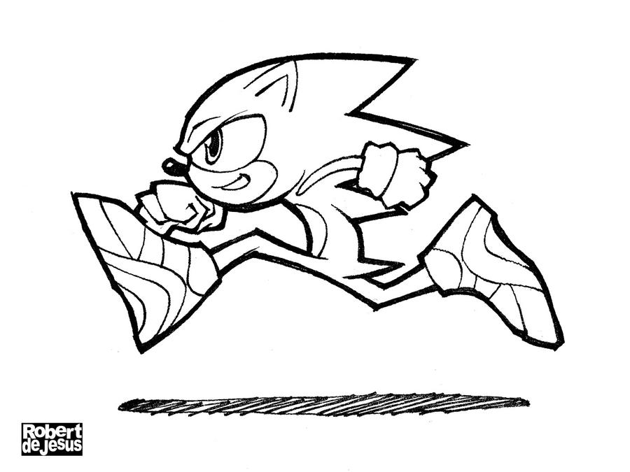 Sonic the Hedgehog Line Art by Banzchan on DeviantArt