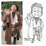 Chibi Style Tired Jedi Commission