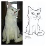 White Neko Sketch