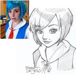 Rei Ayanami Sketch by Banzchan